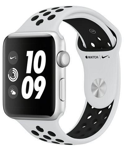 Apple Watch Nike+ (GPS), 42mm Silver Aluminum Case with Pure Platinum/Black Nike Sport Band(