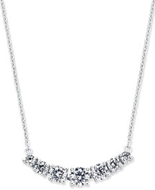 Diamond Seven-Stone Pendant Necklace (5/8 ct. t.w.) in 14k White Gold