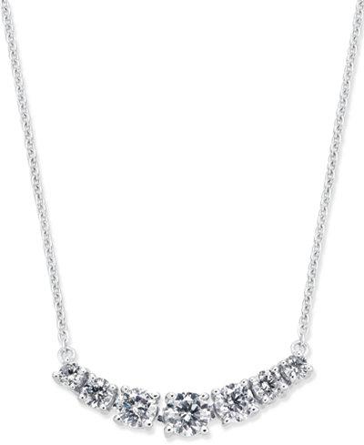 Diamond Seven-Stone Pendant Necklace (5/8 ct. t.w.) in 14k White Gold