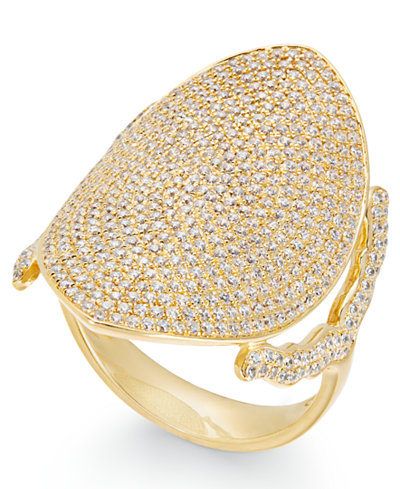 Diamond Pavé Dome Ring (1-1/2 ct. t.w.) in 14k Gold
