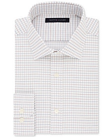 Tommy Hilfiger Men's Fitted Performance Stretch TH Flex Collar Check Dress Shirt