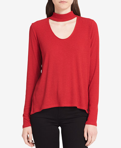 Calvin Klein Jeans Ribbed Choker Top
