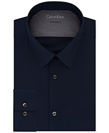 X Men's Extra-Slim Fit Thermal Stretch Performance Solid Dress Shirt