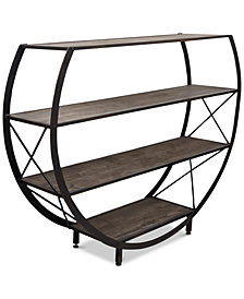 Henslee Circle Bookcase, Quick Ship