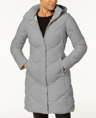 Black miss metro hooded puffer parka
