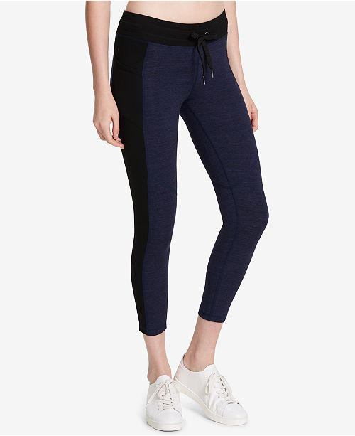 Calvin Klein Heathered Cropped Leggings