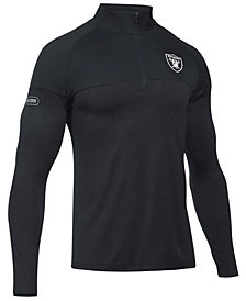 Under Armour Men's Oakland Raiders Twist Tech Quarter-Zip Pullover