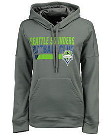 adidas Women's Seattle Sounders FC Bottom Bar Slant Hoodie