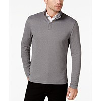 Deals on Alfani Mens Ottoman Quarter-Zip Stretch Knit