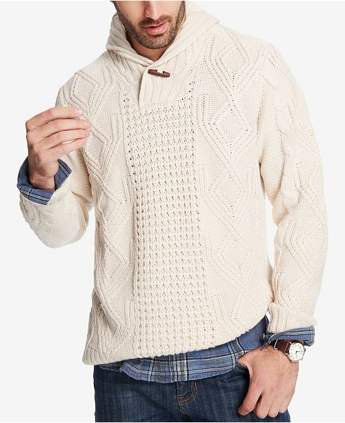 fbdc53a69f91 Weatherproof Vintage Men s Fisherman Shawl-Collar Sweater   Reviews ...