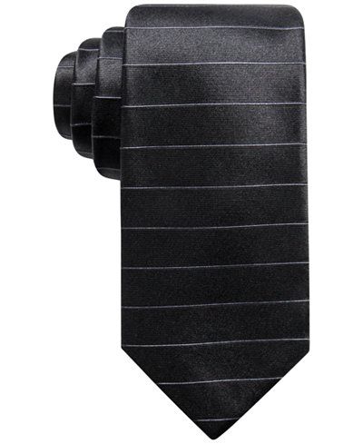Alfani Men's Stripe Silk Slim Tie, Created for Macy's