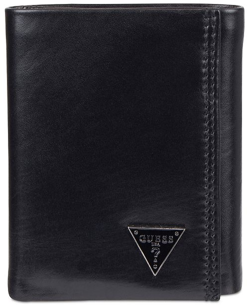 9c34980b12 GUESS Cruz Trifold Leather Wallet   Reviews - All Accessories - Men ...