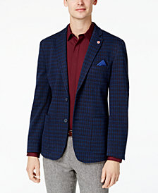 Ben Sherman Men's Slim-Fit Blue/Purple Diamond Pattern Sport Coat