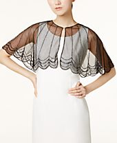 I.N.C. Beaded Scalloped Capelet, Created for Macy's