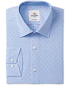 Ben Sherman Men's Slim-Fit Blue & Red End on End Dress Shirt