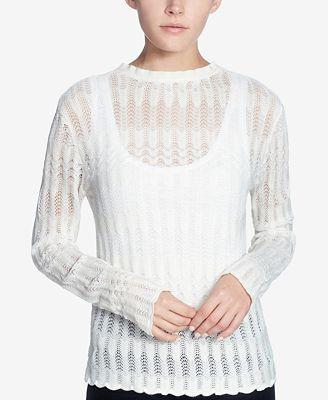 Catherine Catherine Malandrino Marcia Pointelle Sweater