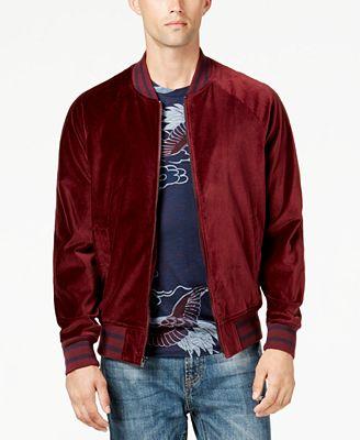 American Rag Men's Velvet Varsity Bomber Jacket, Created for ...