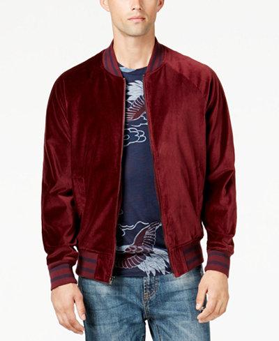 American Rag Men's Velvet Varsity Bomber Jacket, Created for Macy's