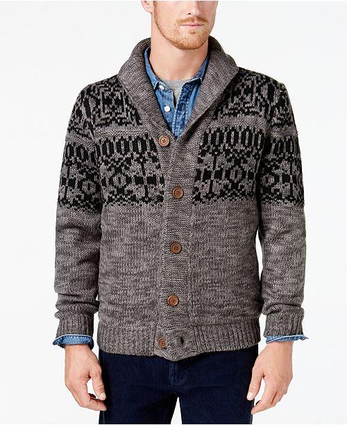9a100644c811e4 Weatherproof Vintage Men's Shawl-Collar Sweater & Reviews - Macy's
