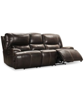 "Calver 92"" Power Reclining Sofa With Power Headrest and USB Power Outlet, Created for Macy's"