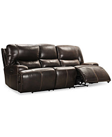 "CLOSEOUT! Calver 92"" Power Reclining Sofa With Power Headrest and USB Power Outlet, Created for Macy's"