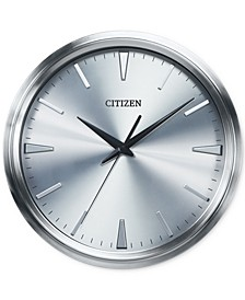 Gallery Silver-Tone Metal Wall Clock