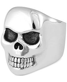 King Baby Men's Classic Skull Ring in Sterling Silver