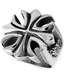 King Baby Men's Large Cross Ring in Sterling Silver