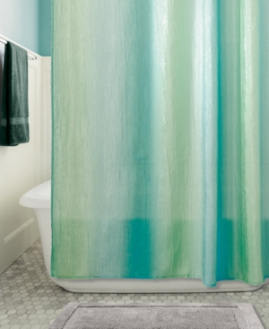 Interdesign Ombre Textured 72 x 72 Shower Curtain Bedding