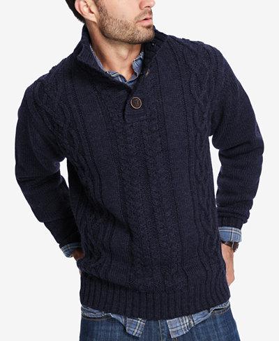 Weatherproof Vintage Mens Mock Neck Sweater