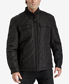 London Fog Men's Zip-Front Quilted Jacket