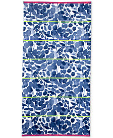 bluebellgray Miriam Cotton Yarn-Dyed Floral-Print Beach Towel