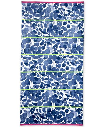 bluebellgray Miriam Cotton Yarn-Dyed Floral-Print Beach Towel