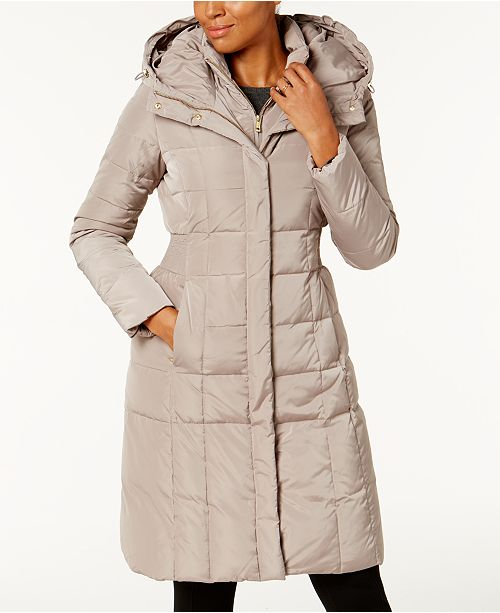Layered Down Puffer Coat