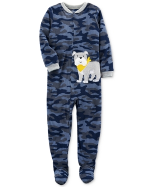 Carters 1Pc CamoPrint Dog Footed Pajamas Little Boys (47)  Big Boys (820)