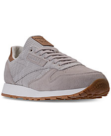 Reebok Men's Classic Leather EBK Casual Sneakers from Finish Line
