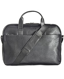 Men's Slim Faux-Leather Briefcase