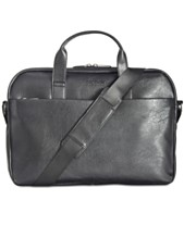 Kenneth Cole Reaction Men s Slim Faux-Leather Briefcase d62a7179bc69e