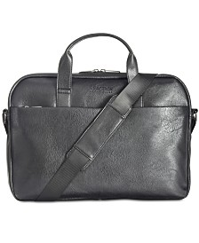 Kenneth Cole Reaction Men's Slim Faux-Leather Briefcase