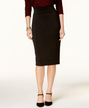 Alfani Pull-On Zip-Detail Skirt, Created for Macy's thumbnail