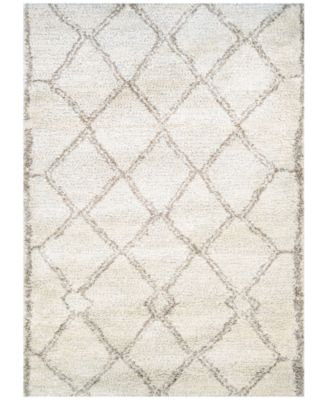 "Enclave Shag Kyoto Snowflake-Bronze 2'2"" x 7'10"" Runner Area Rug"
