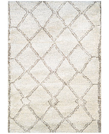"Couristan Enclave Shag Kyoto Snowflake-Bronze 2'2"" x 7'10"" Runner Area Rug"