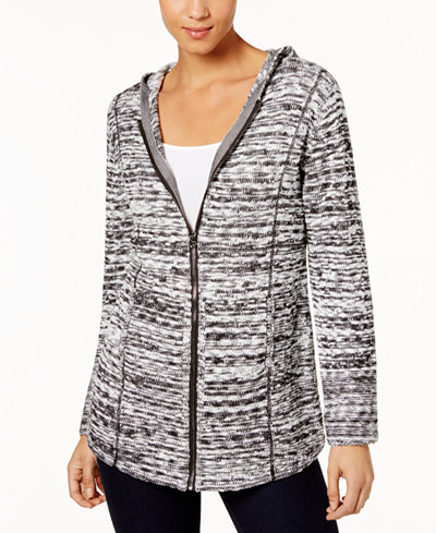 Style & Co Marled-Knit Hoodie Sweater, Created for Macy's