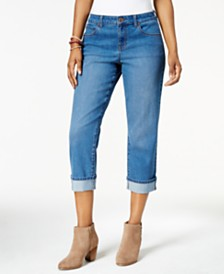 Style & Co Petite Curvy Cuffed Capri Jeans, Created for Macy's