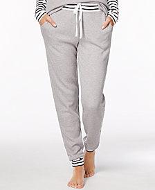 Alfani Striped-Trim Thermal Pajama Pants, Created for Macy's