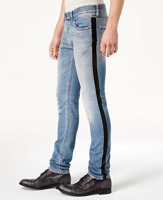 Just Cavalli Men S Side Stripe Distressed Jeans Jeans