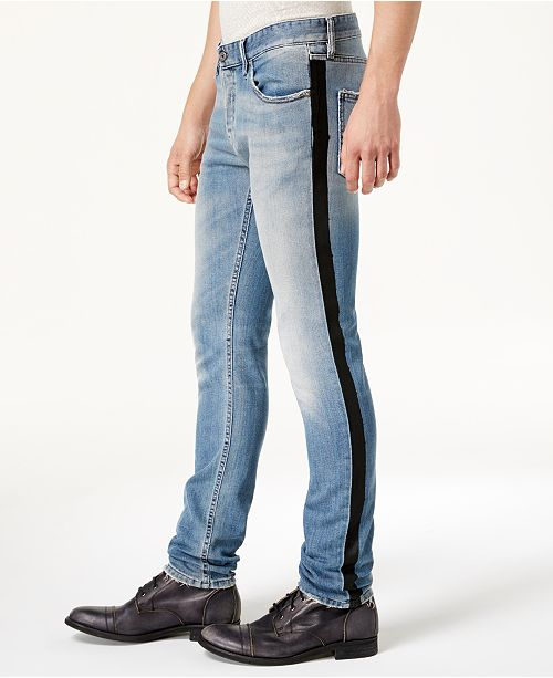 Just Cavalli Men S Side Stripe Distressed Jeans Jeans