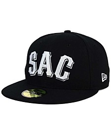 Sacramento River Cats Black and White 59FIFTY Fitted Cap