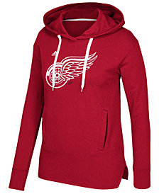 adidas Women's Detroit Red Wings Logo Shine Hooded Sweatshirt