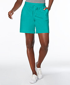 Karen Scott Pull-On Drawstring Shorts, Created for Macy's